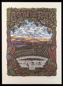 Bottlerock 2018 Poster Napa CA Original Hand-Signed Silkscreen by Gary Houston
