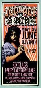 Journey Poster Foreigner NY 1999 Silkscreen Signed Mark Arminski