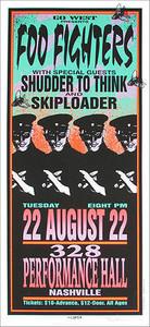 Foo Fighters Poster 1995 Original Signed Silkscreen by Mark Arminski