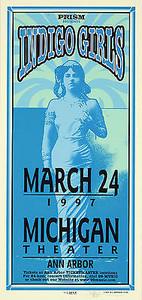 Indigo Girls Poster 1997 Original Signed Silkscreen by Mark Arminski