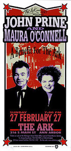 John Prine Poster 2000 Original Signed Silkscreen by Mark Arminski