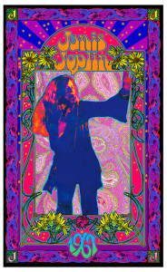 Janis Joplin Poster Psychedelic Explosion Original Lithograph Signed Bob Masse