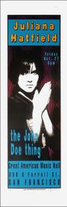 Juliana Hatfield Poster John Doe GAMH 1995 Signed 250# by Lynne Porterfield