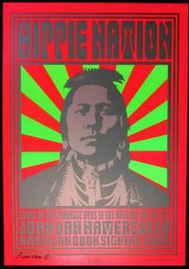John Van Hamersveld Poster Hippie Nation Pinnacle Days Book Tour Signed by John