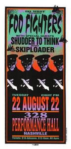 Foo Fighters Original Poster Handbill Nashville 1995 Mark Arminski NM\