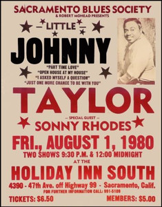 Little Johnny Taylor Poster Rare Boxing Style Blues Sacramento Holiday Inn 1980