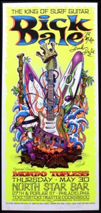Dick Dale Original Concert Tour Poster Signed by Dick Dale and Jeral Tidwell NM