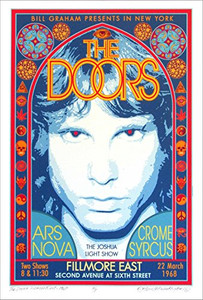 Doors Fillmore East Historic Performance Tribute Poster Hand Signed David Byrd