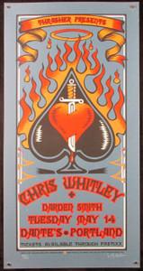 Chris Whitley Poster Darden Smith Dante's Portland 2002 Signed 121 Gary Houston