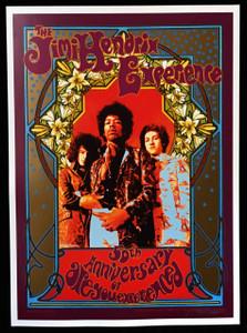Jimi Hendrix 50th Anniversary Poster Original Karl Ferris Hand-Signed Bob Masse