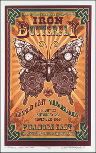 Iron Butterfly Fillmore East New Artist's Historic Edition Hand-Signed David Byrd