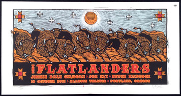 Flatlanders Poster Aladdin Theater 2012 Jimmy Dale Joe Butch SN 120 Gary Houston