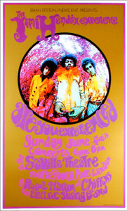 Jimi Hendrix Poster Are You Experienced? Beautiful Reprint Ferris/Masse