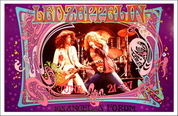 Led Zeppelin Commemorates 1977 L.A. Forum Performance Signed by Bob Masse