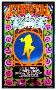 Jethro Tull Poster Snug Harbor Staten Island 2001 Signed Bob Masse
