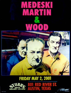 Medeski Martin & Wood Stubbs Austin 2001 Original Poster Signed by Bob Mass