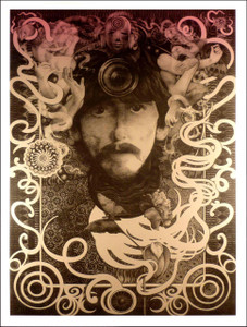 George Harrison Ultimate Fan Poster Silver Ink Beautiful by Steve Harradine