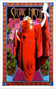 Stevie Nicks Poster White Winged Dove Original Signed by Bob Masse