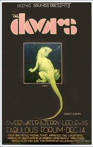 Doors LA Forum 1968 Great Hand-Signed 2003 Reprint by Bob Masse NICE