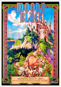Moody Blues Poster Gorgeous Hand-Signed Lithograph by Bob Masse