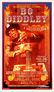 Bo Diddley River Rock Casino Richmond 2006 Hand Signed Bob Masse