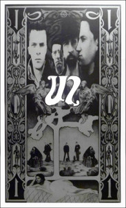 U2 Ultimate Fan Poster Steve Harradine Black & Silver Lithograph SHIPS FREE