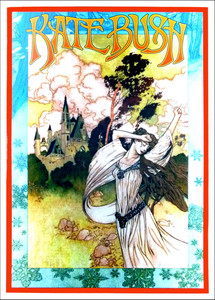Kate Bush Fan Club Commissioned Poster Signed Silkscreen By Bob Masse