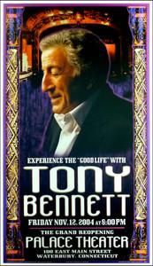 Tony Bennett Poster Palace Theater Waterbury Signed by Bob Masse