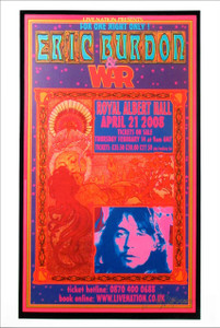 Eric Burdon & War Poster Royal Albert Hall 2008 Litho Signed by Bob Masse
