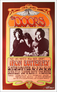 Doors Poster Poster Berkeley 1968 Nice Reprint Signed Silver Ink Bob Masse
