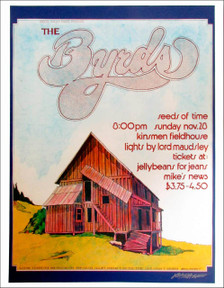 The Byrds Poster Kinsmen Field House Edmunton 76 Repring Signed Bob Masse