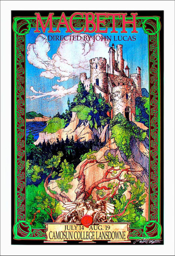 Macbeth Poster Shakespeare Society Camosun College Signed Giclee Bob Masse
