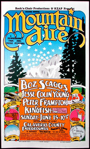 Mountain Aire 1975 Poster Boz Scaggs Jesse Colin Young Peter Frampton