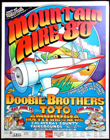 Mountain Aire 1980 Poster Doobies Toto Ambrosia Huey Lewis Angel's Camp