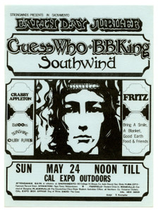 Guess Who BB King Fritz w Stevie Nicks Original Handbill Cal Expo 1970