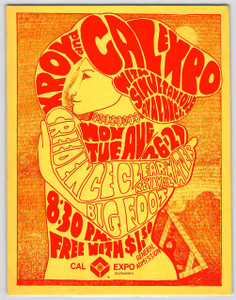 Creedence Clearwater Revival Original Handbill Cal Expo 1968