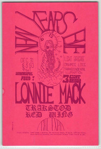 Lonnie Mack Trackstod Redwing Original Handbill Cal Expo 1969