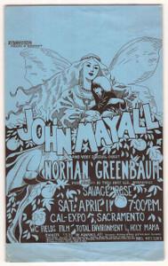 John Mayall Norman Greenbaum Original Handbill Cal Expo Sacramento 1968