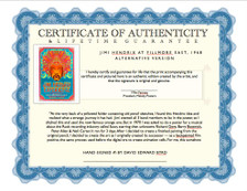 Certificate of Authenticity and Lifetime Guarantee
