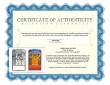 Certificate of Authenticity and Lifetime Guarantee (COA)