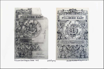 Fillmore East '69 Program Cover Image + Found Sketch A/P Signed David Byrd
