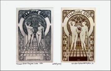 Fillmore East '70 Program Poster Image + Sketch Signed by Artist David Byrd