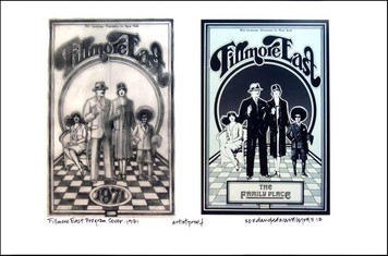 Fillmore East Program Poster Image + Sketch 1971 Signed by David Byrd