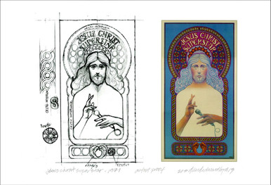 Jesus Christ Superstar 1971 Poster Print + Concept Sketch Signed David Byrd