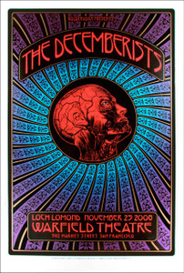 Decemberists Original Tour Poster Warfield 2008 s/n Silkscreen Dave Hunter