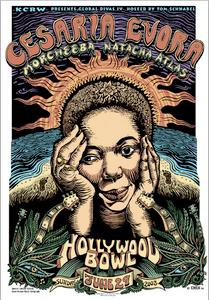 Cesaria Evora Poster Hollywood 2003 Original Silkscreen Signed Doodled EMEK