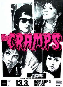 Cramps Original Subway Poster Jesus Jones Hamburg Docks Germany 2000 NICE