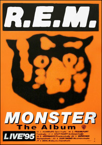REM Poster Monster The Album German 1995 German Tour