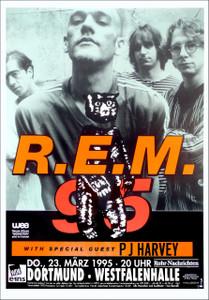 R.E.M. bus side poster Dortmund, GER