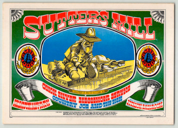 FD 62 Quicksilver, Country Joe Poster Original 1st Print Avalon Ballroom 19
